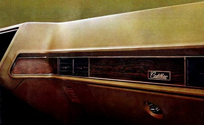 Image: Cadillac's new instrument panel design for 1969