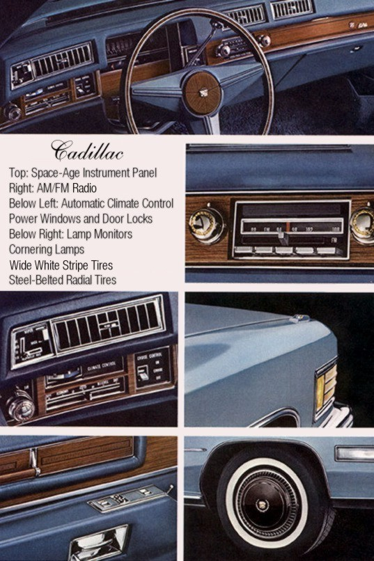 1976 Cadillac Standard Equipment