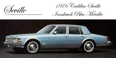 1976 Cadillac Seville Paint Codes