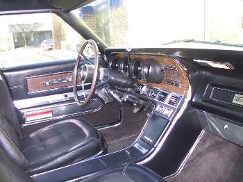 1967 Ford Thunderbird Fordor Landau Interior In Black SL Cloth And Vinyl