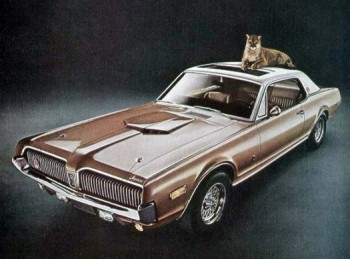 Image: 1968 Mercury Cougar XR7-G with power sunroof