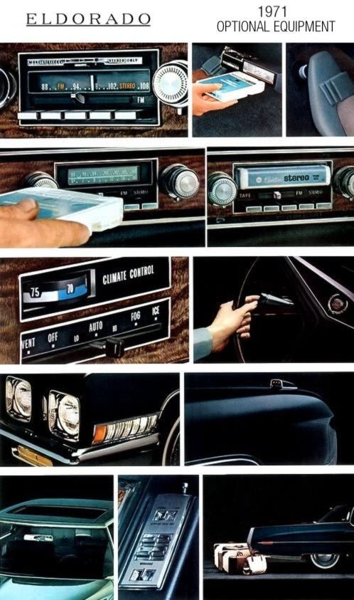 1971 Cadillac Eldorado Optional Equipment