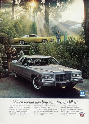Image 1976 Cadillac Ad With Coupe Deville And Eldorado