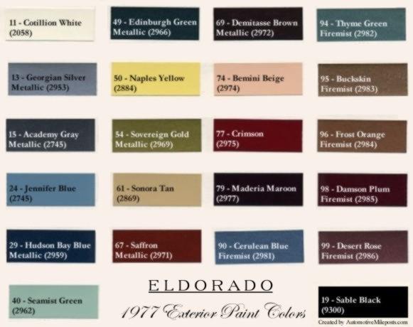 1977 Cadillac Eldorado Paint Codesrhautomotivemileposts: Cadillac Paint Code Location At Elf-jo.com