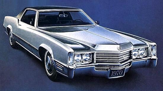 1970 Cadillac Eldorado Exterior Paint Codes