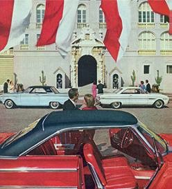 Photograph of three Command Performance 1963 Ford models sent to Monaco for the festivities