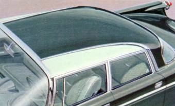 1960 Imperial Crown Four-Door Sedan with optional Two-Tone Roof Treatment in Cedar Green with Light Mint Side Roof Inserts