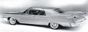 Image: View of 1960 Imperial LeBaron Four-Door Southampton with Town Car rear window