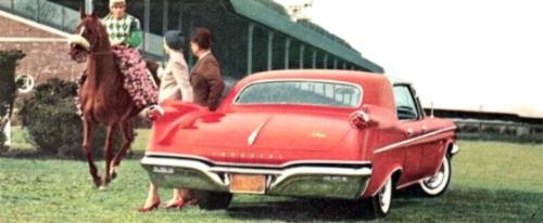 1960 Imperial LeBaron Four-Door Southampton at the race track