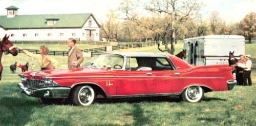 1960 Imperial LeBaron Four-Door Southampton with Silvercrest Landau roof in Regal Red