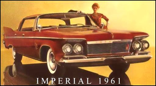 1961 Imperial Custom Four-Door Southampton in Coronation Red