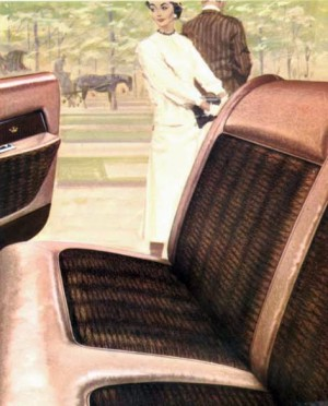 1961 Imperial Custom interior in Russett