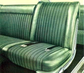 Imperial Crown Green Cord and Leather interior trim