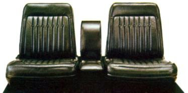 Black Leather Aircraft-Type Seats