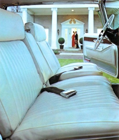 1966 Imperial Crown Coupe White Leather with Black Instrument Panel and Carpeting (code M9W)