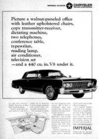 1966 Imperial Mobile Executive Show Car ad (click to view larger version)