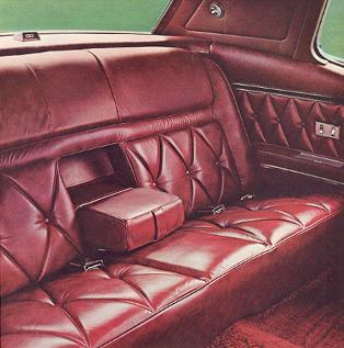 Image: 1969 Continental Mark III Red Leather interior
