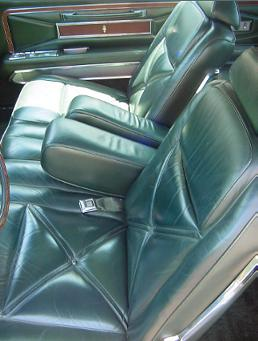 Optional Dark Green Leather interior trim shown in Lo-Back Seats