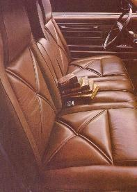 Optional Dark Tobacco Leather interior trim shown in Hi-Back Seats