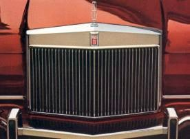 Image: 1973 Continental Mark IV grille detail
