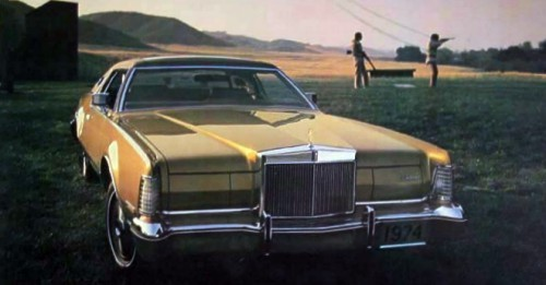 1974 Continental Mark IV with Gold Luxury Group option