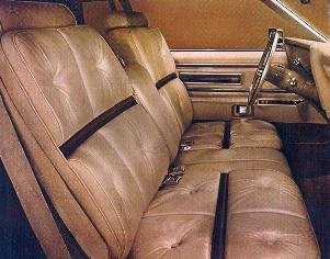 1974 Continental Mark IV Gold Luxury Group Leather interior