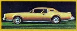 1974 Continental Mark IV Gold Luxury Group side view