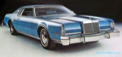 1975 Continental Mark IV Blue Diamond Luxury Group (prototype image)