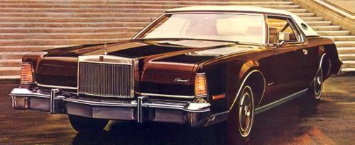 Image: 1975 Continental Mark IV in Dark Brown Metallic
