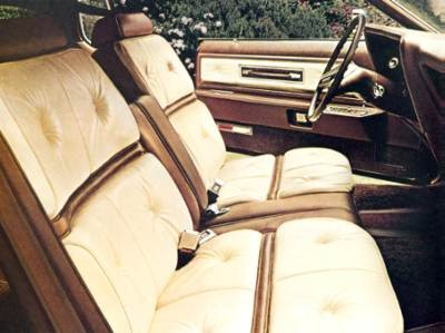 Saddle and White Luxury Group - Leather Seating Surfaces interior trim
