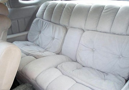 Image: 1976 Continental Mark IV Black Diamond Luxury Group Dove Grey Versailles Velour interior