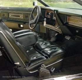 Image: 1976 Continental Mark IV Black Diamond Luxury Group interior in Black Leather