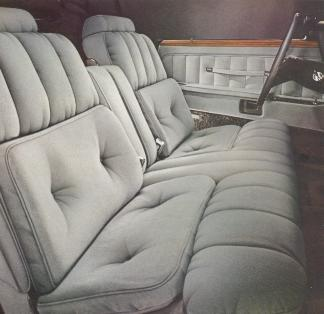 1976 Continental Mark IV Cartier Edition Dove Grey Versailles Cloth interior trim