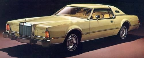 1976 Continental Mark IV with Gold/Cream Luxury Group Option
