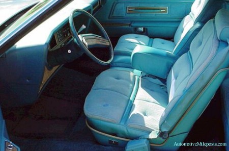 1976 Continental Mark IV Givenchy Edition Aqua Blue Velour