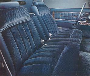 Standard Blue Velour Cloth interior trim