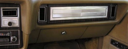 Image: 1978 Continental Mark V Diamond Jubilee Edition instrument panel applique