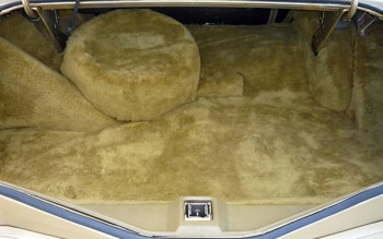 Image: 1978 Continental Mark V Diamond Jubilee Edition luggage compartment