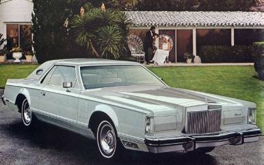 1978 continental mark v in white