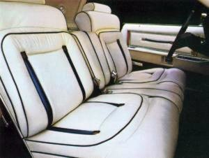 Bill Blass Edition - White Leather Seating Surfaces with Midnight Blue accents interior trim