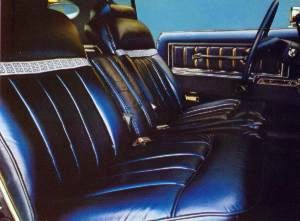 "Givenchy Edition Dark Crystal Blue Leather Seating Surfaces with Broadlace Insert embroidered with Givenchy ""G"" logos interior trim"