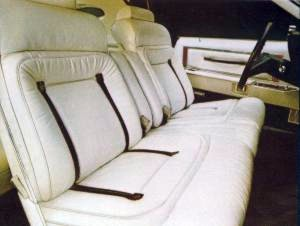 Pucci Edition White Leather Seating Surfaces with Midnight Blue accents interior trim