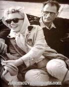 Another Image of Marilyn Monroe and Arthur Miller - 1956 Thunderbird