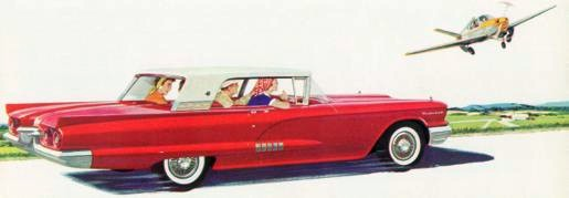 1958 Ford Thunderbird Hardtop in Two Tone Grenadier Red and Winterset White