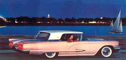 1959 Ford Thunderbird Hardtop in Two Tone Flamingo Pink with Colonial White Top