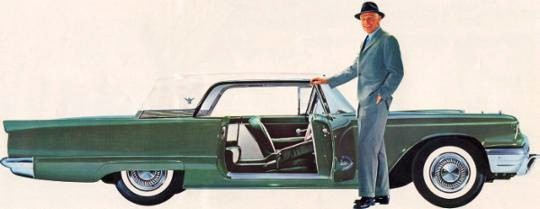 1959 Ford Thunderbird Hardtop in Two Tone Tamarack Green with Colonial White Top
