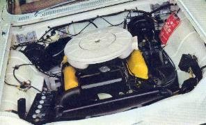 1960 Thunderbird engine compartment with 352 Special V-8 Engine