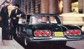 1960 Ford Thunderbird Standard Equipment