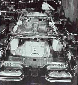 Image: 1960 Ford Thunderbird being assembled