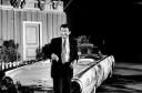 Efrem Zimbalist, Jr. with 1961 Thunderbird Convertible on set of 77 Sunset Strip